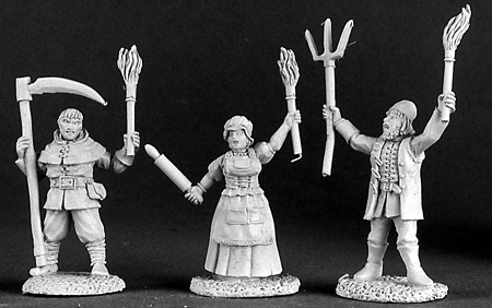 03123 Townsfolk VIII: Village Mob (3)