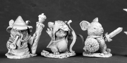 03529 Mouslings (Wizard, Archer & Warrior)