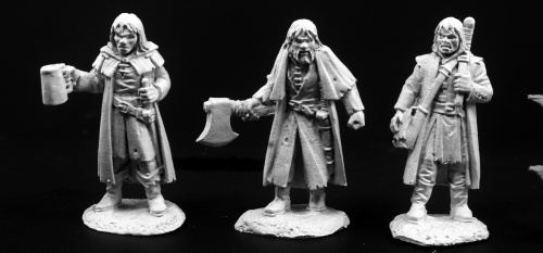 03793 Townsfolk of Dreadmere Mercenaries (3)