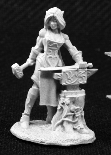 03803  Laril Silverhand, Female Elven Blacksmith