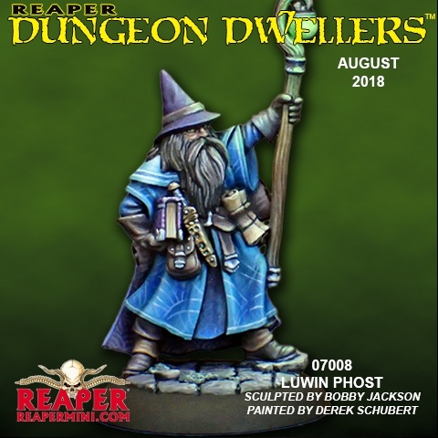07008 Dungeon Dwellers: Luwin Phost, Adventuring Wizard