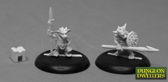 07020 Dungeon Dwellers: Kobold Spearmen (2)
