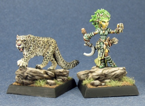 60020 Lini, Iconic Gnome Druid and Droogami, Snow Leopard