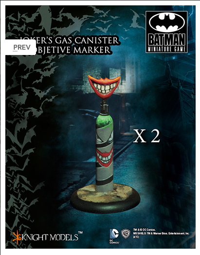 Joker's gas canister Markers