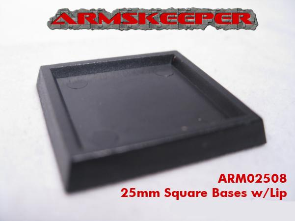 ARM02508 25mm Square Bases with Lip Mega Pack (80)