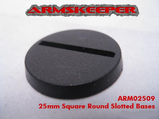 ARM02509 25mm Round Slotted Bases (20)