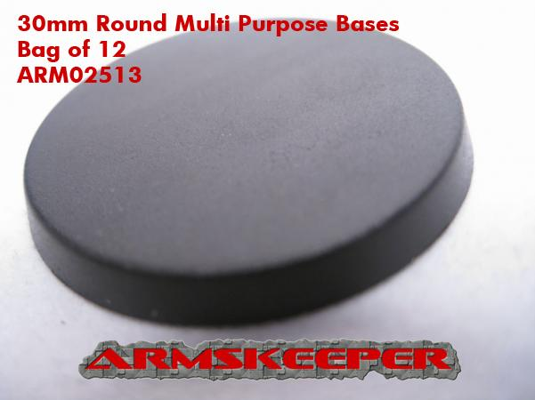 ARM02513 30mm Round Multi Purpose Bases (12)