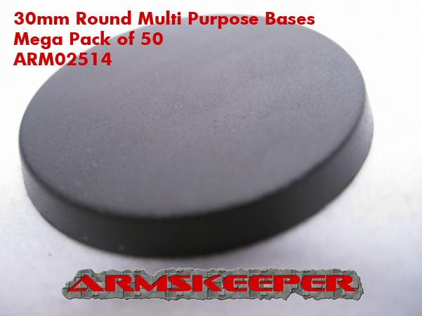ARM02514 30mm Round Multi Purpose Bases Mega Pack (50)