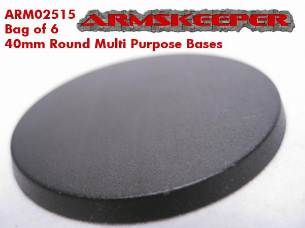 ARM02515 40mm Round Multi Purpose Bases (6)