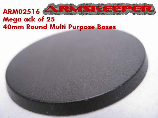 ARM02516 40mm Round Multi Purpose Bases (25)