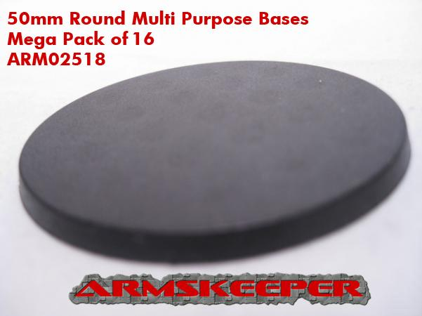 ARM02518  50mm Round Multi Purpose Bases (16)