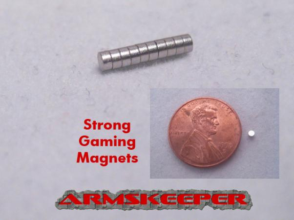 ARM03502 Strong Gaming Magnets (Medium - 1/8''dia x 1/16'')