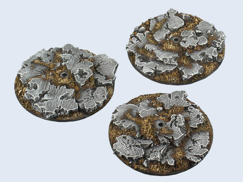 B00126 Ruins Bases, Fly Round 60mm