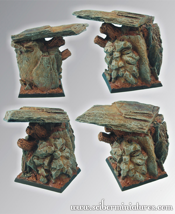 Dwarven Mountain Square Base 50mm