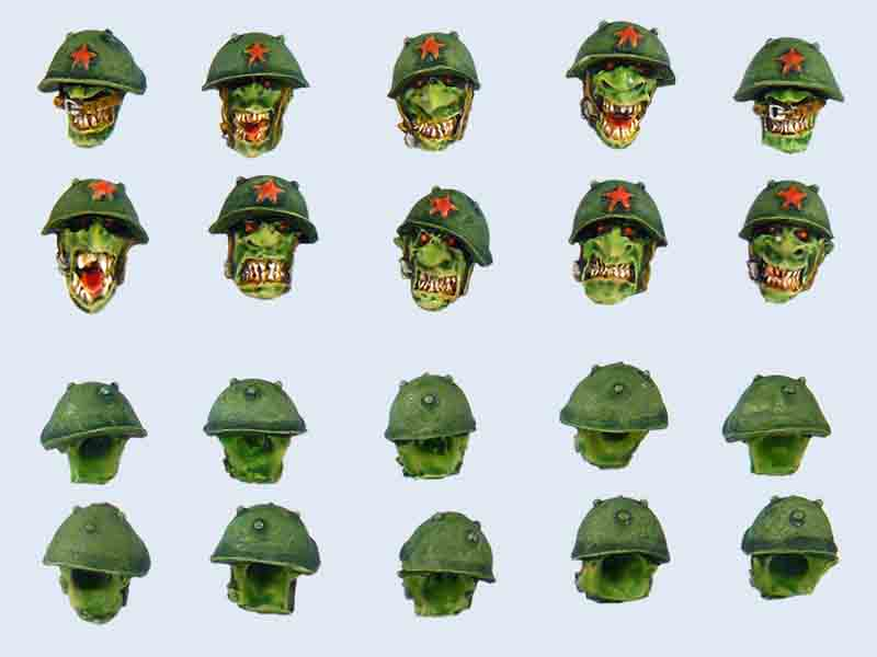 C00014 Goblin Troopers Head Set #1