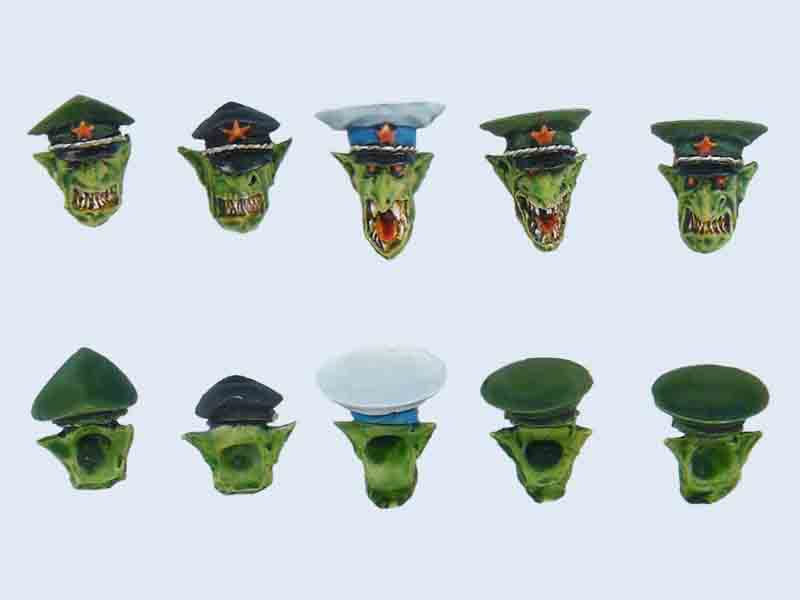 C00013 Goblin Generals Heads set #1