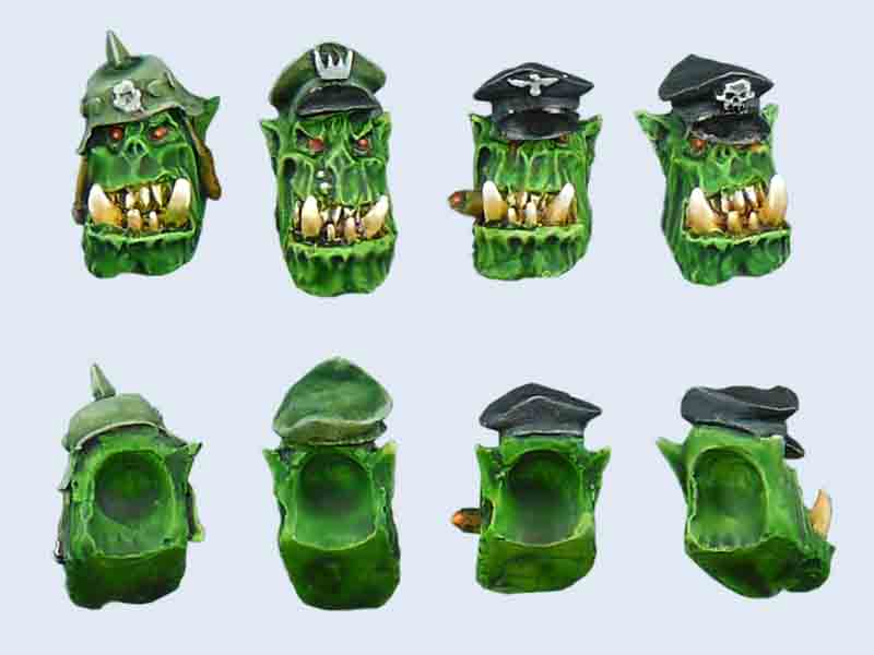 C0001 Orcs Captain Heads Set