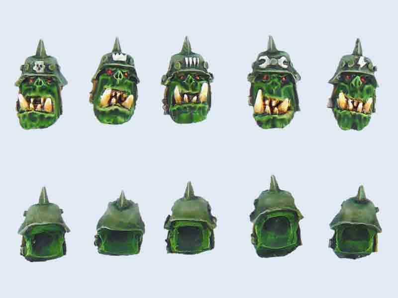 C00012 Orcs Heads in Helmets Set #1