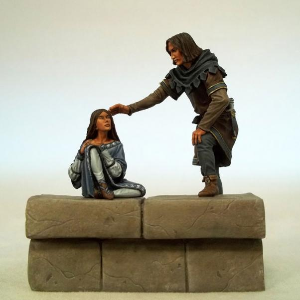 DSM5504 Jon Snow and Arya Diorama 54mm