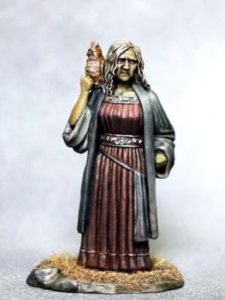 DSM7332 Female Witch w. Owl