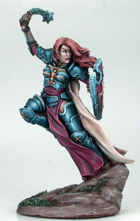 DSM7404 Female Paladin w/ Morningstar