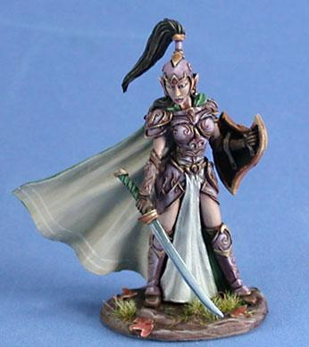 DSM7414 Female High Elf Warrior w/Sword & Shield