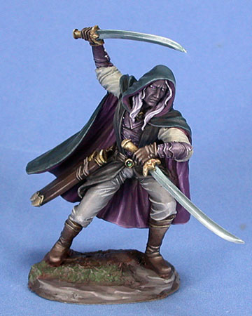 DSM7421 Male Dark Elf Warrior