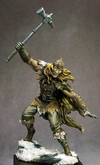 DSM7429 Male Barbarian with Warhammer