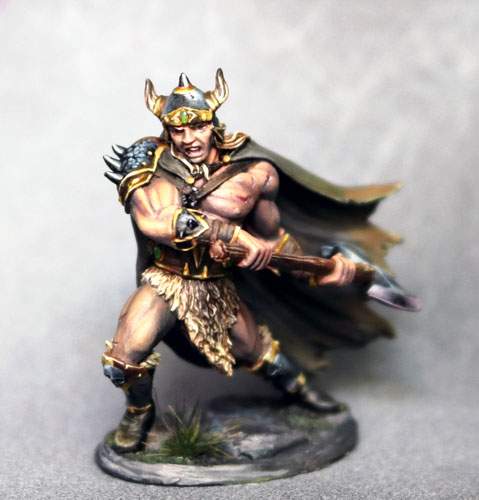 DSM7477 Male Barbarian w. Battle Axe