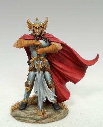 DSM7524 10th Anniversary Male Fighter with Two Handed Dark Sword