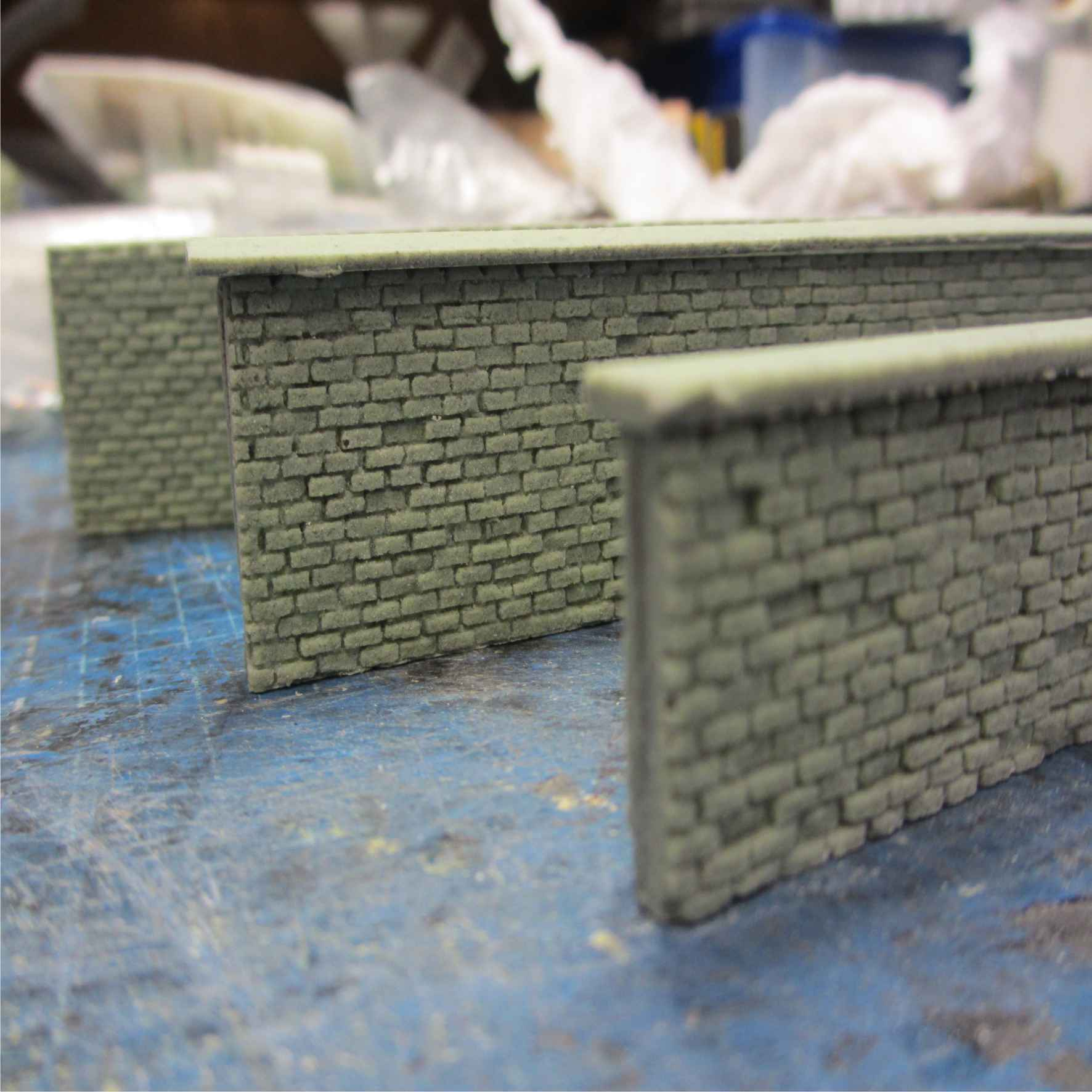 6' brick wall set