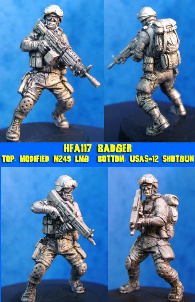 HFA117 Badger, Modern trooper