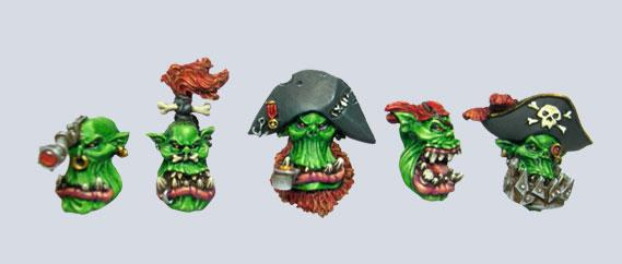 MXMCB016 Pirate Orc Heads