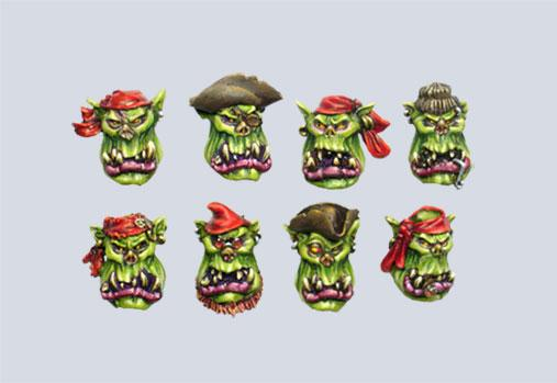 MXMCB018 Pirate Orc Boys Heads