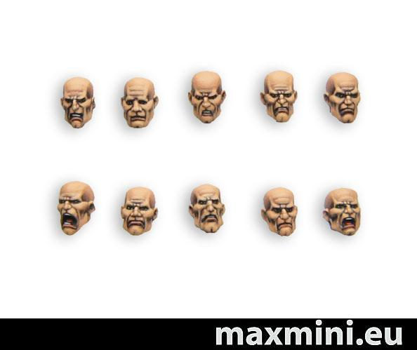 MXMCB082 Generic Male Heads (10)