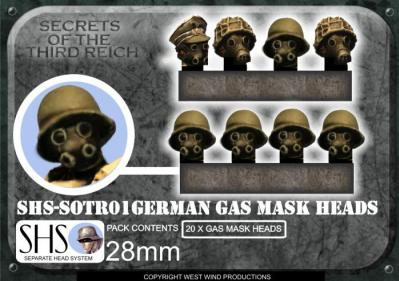 SOTR01 SHS German Gas Mask Heads