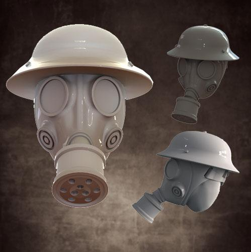 CB1026 Gas Mask - Pan Helmets