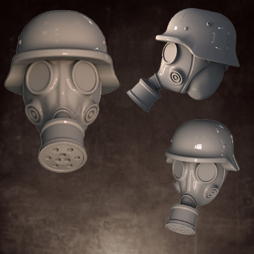 CB1027 Gas Mask - Rolled Helmet