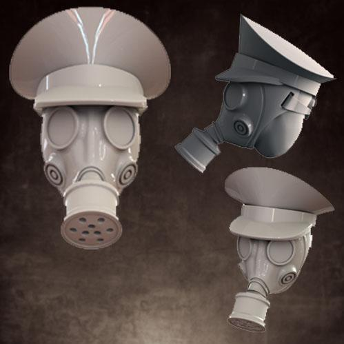 CB1028 Gas Mask - Officer Caps