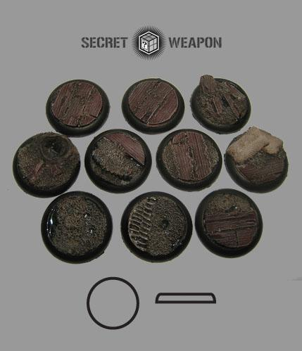 RLTW3001 Round Lip 30mm Trench Works Bases