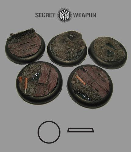 RLTW4001 Round Lip 40mm Trench Works Bases