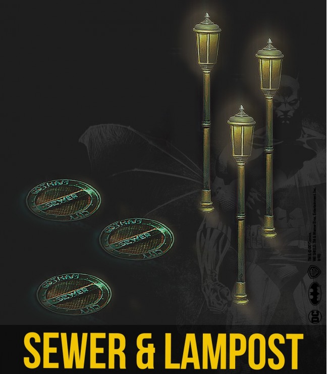 Sewer & Lamppost Set